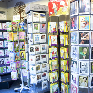 Large selection of greeting cards